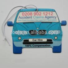 Custom printing car air freshener for car hire service