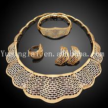 pakistani 18k gold jewelry sets made in China