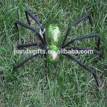 SPIDER WIHT GREEN SHINNING LIGHTS FOR HALLOWEEN GARDEN DECORATION