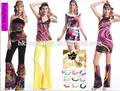 Instyles surtidor de china traje retro del traje de hippy gogo traje