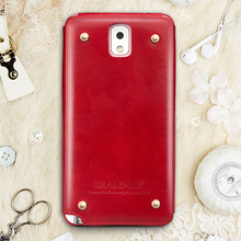 elegant luxury slim genuine leather for samsung galaxy Note 3 case cover red
