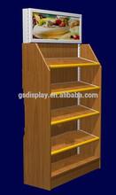 wooden promotion display rack