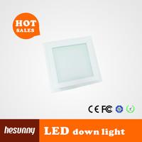 6w square glass led panel light,super bright panel led,factory price led panel lamp