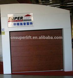 Smooth auto garage door,mirror door panel,insualted garage door
