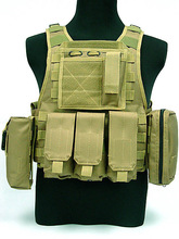 military bulletproof vest,airsoft tactical vest,army green military vest with molle system