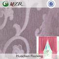 Floral jacquard apagão revestido de tecido para cortina blind romano e sem costura greenguard parede de pano fornecedor