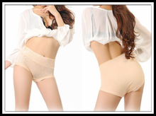 good quality breathable high waist slimming lace bamboo fiber panty