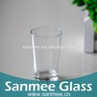 Machine Pressed Drinking Glass Shot Cups With Round Bottom