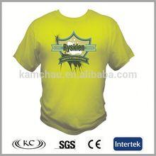 stylish wholesale china man green custom design led t-shirt