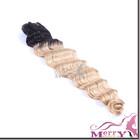 unprocessed brazilian human hair weaves ombre wavy hair weaves