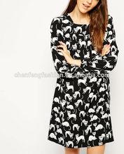 Swing cat print dress