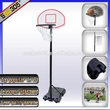Portable child metal basketball stands adjustable basketball goai post