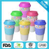 Customized ceramic cup with lid, Starbucks coffee cup