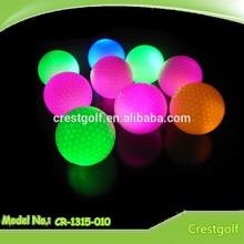 Eye-catching Constant shining LED golf ball/Christmas gift