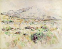 100% handmade high quality Impression famous landscape painting artists of Cezanne