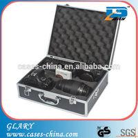 Customized aluminum camera case with foam padding