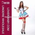 lantejoulas guarnição e jóias coração botões alice wonderland fantasia de fada vestido de uniforme