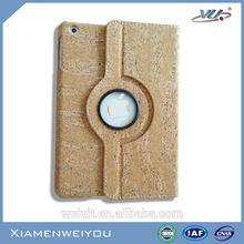 Innovative Mobile Phone Accessories Wood Cork Leather Plastic Case for iPad Mini