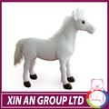 2014 branco atacado grande cavalo de brinquedo de pelúcia manufactory