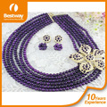 2014 nueva que viene africanos cuentas de coral diseños de la joyería de moda de gran collar de cuentas de la joyería para la fiesta