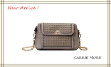 Korea pure color hardware strap satchel bag