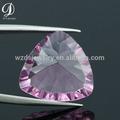 intermitente de diamante artificial de grasa de color rosa de cristal triángulo de piedras preciosas