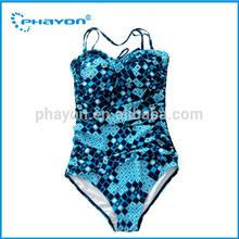 2014 fashion Lady one piece plus size swimwear/swimsuit/beachwear