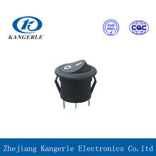 Long life high quality 3 position electrical round rocker switch for electrical products with certificate