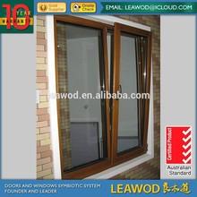 European Design Aluminum cladding Wood Tilt and Turn Window