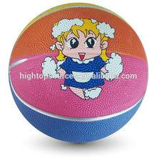 mini cartoon rubber basketball for kids basketball for advertising