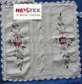 100% artesanal quadrados rendas de algodão crochet almofada