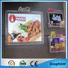 Acrylic led light photo frame for food shop advertising