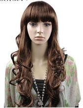 Long Curly Wig YIWU Cheaper Price Synthetic Hair New Style Cute Synthetic Hair Lovely Machine Wig Synthetic Hair Wigs