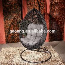 egg shape comfortable swing outdoor indoor rattan hanging chair