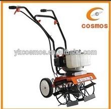 Gasoline mini tiller garden machine cultivator