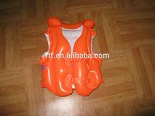 hot sale inflatable orange life vest ,inflatable pvc life vest for kids