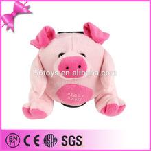 2014 foshan toy factory custom plush and stuffed pink pig