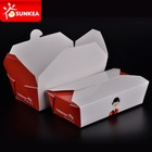 Disposable paper food packaging boxes