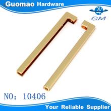 Shinny gold metal corner clips for bag decorative