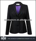 puple lining black ladies blazer designs