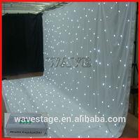 HOT WLK-2W White fireproof Velvet cloth White leds backdrop twinkle light curtain