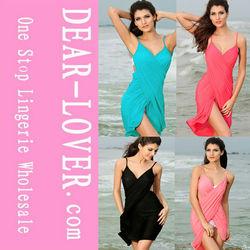 Mix Colors Sexy Stylish Backless Beach Dress