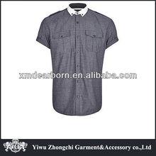 Dos homens roupas de manga curta preto DITSY imprimir camisa militar