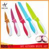 Stainless steel kitchen 5 pcs non-stick coating knife set