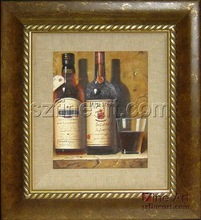 100% handmade realistic wine glass oil painting