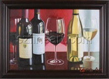 Beautiful modern still life wine glass oil painting