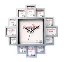 2015 promotional plastic photo frame wall clock with picture display