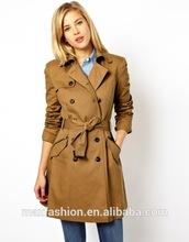 China Custom-made Winter Coat,OEM Brand Fashionable Lady Coat, 2015 Hot-sale Trench Coat for women