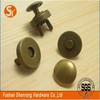 Wholesale bags accessories metal part 18*4mm antique brass rivet hidden magnetic snap button press stud
