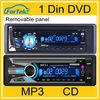 Universal auto car dvd 1 din with bluetooth, radio MP4, VCD, MP3
